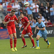 Jordan Henderson, Liverpool, in action during the Manchester City Vs Liverpool FC Guinness International Champions Cup match at Yankee Stadium, The Bronx, New York, USA. 30th July 2014. Photo Tim Clayton