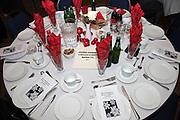 Dinner table setting. Swedish Julbord American Swedish Institute Minneapolis Minnesota USA