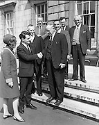 Deputy Des O'Malley welcomed to Dail<br /> 28.05.1968