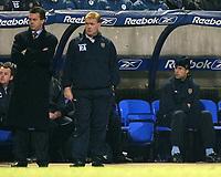 Photo. Aidan Ellis.<br />Bolton Wanderers v Aston Villa.<br />Carling Cup Semi Final 1st Leg.<br />21/01/2004<br />Villa's Ronnie Johnson watches from the bench