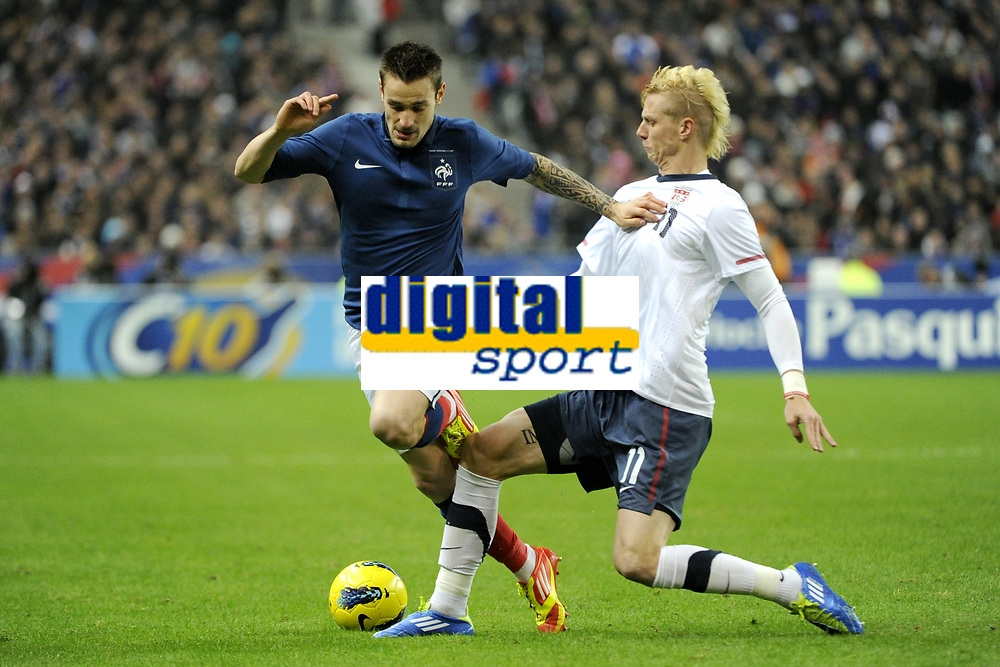 FOOTBALL - INTERNATIONAL FRIENDLY GAMES 2011/2012 - FRANCE v USA - 11/11/2011 - PHOTO JEAN MARIE HERVIO / DPPI - MATHIEU DEBUCHY (FRA) / BREK SHEA (USA)