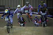 #373 (BLANC Renaud) SUI chases hard in his qualifying heat at the UCI BMX Supercross World Cup in Manchester, UK