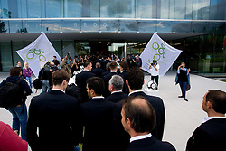 Photographers at official presentation of Slovenian National Football team for World Cup 2010 South Africa, on May 21, 2010 in Congress Center Brdo at Kranj, Slovenia. (Photo by Vid Ponikvar / Sportida)