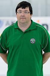 Tomaz Langerholz, member of HDD Tilia Olimpija ice-hockey team for season 2010/2011 at official photo shooting in Hala Tivoli, Ljubljana, on September 1, 2010, in Ljubljana, Slovenia. (Photo by Matic Klansek Velej / Sportida)