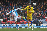 Blackburn Rovers Dominic Samuel in action with Swansea City's Joe Rodon<br /> <br /> Photographer Mick Walker/CameraSport<br /> <br /> The EFL Sky Bet Championship - Blackburn Rovers v Swansea City - Saturday 29th February 2020 - Ewood Park - Blackburn<br /> <br /> World Copyright © 2020 CameraSport. All rights reserved. 43 Linden Ave. Countesthorpe. Leicester. England. LE8 5PG - Tel: +44 (0) 116 277 4147 - admin@camerasport.com - www.camerasport.com