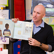 Award winning teacher Robert Sautter teaches kindergarten at Cesar Chavez Elementary in San Francisco, CA.