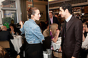CHARLOTTE DELLAL; ZAC POSEN, The launch of the Belvedere Bloody Mary Brunch to London's Caprice. Le Caprice. Arlington st. London. 7 April 2011.  -DO NOT ARCHIVE-© Copyright Photograph by Dafydd Jones. 248 Clapham Rd. London SW9 0PZ. Tel 0207 820 0771. www.dafjones.com.