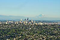 Queen Anne Hill, Seattle Skyline & Mount Rainier