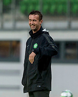 08/07/14 PRE-SEASON FRIENDLY<br /> LASK LINZ V CELTIC<br /> LINZER STADION - AUSTRIA<br /> Celtic manager Ronny Deila is all smiles in the dugout.