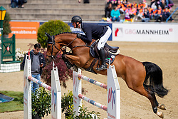 TEBBEL Maurice (GER), Cote de Pablo<br /> Mannheim - Maimarkt Turnier 2019<br /> Preis der BROSE Unternehmensgruppe GmbH & Co.KG, Coburg<br /> Int. Springprüfung mit Stechen (1.45-1,50 m) <br /> CSIYH1*<br /> Finale 7- und 8jährige Pferde<br /> 07. Mai 2019<br /> © www.sportfotos-lafrentz.de/Stefan Lafrentz