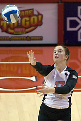 13 October 2012: Jenny Menendez during an NCAA volleyball game between the Drake Bulldogs and the Illinois State Redbirds.  The Redbirds won the match in 3 straight sets at Redbird Arena in Normal Illinois