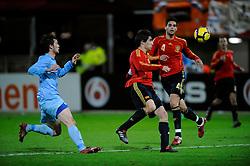 17-11-2009 VOETBAL: JONG ORANJE - JONG SPANJE: ROTTERDAM<br /> Nederland wint met 2-1 van Spanje / Javi Martinez<br /> ©2009-WWW.FOTOHOOGENDOORN.NL