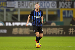 February 3, 2019 - Milan, Milan, Italy - Milan Skriniar #37 of FC Internazionale Milano in action during the serie A match between FC Internazionale and Bologna FC at Stadio Giuseppe Meazza on February 3, 2019 in Milan, Italy. (Credit Image: © Giuseppe Cottini/NurPhoto via ZUMA Press)