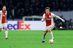 Carel Eiting #8 of Ajax in action during the Europa League match R32 second leg between Ajax and Getafe at Johan Cruyff Arena on February 27, 2020 in Amsterdam, Netherlands
