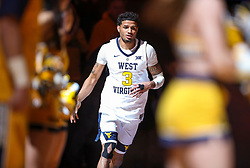 Nov 28, 2018; Morgantown, WV, USA; West Virginia Mountaineers guard James Bolden (3) is announced during the starting lineups before their game against the Rider Broncs at WVU Coliseum. Mandatory Credit: Ben Queen-USA TODAY Sports