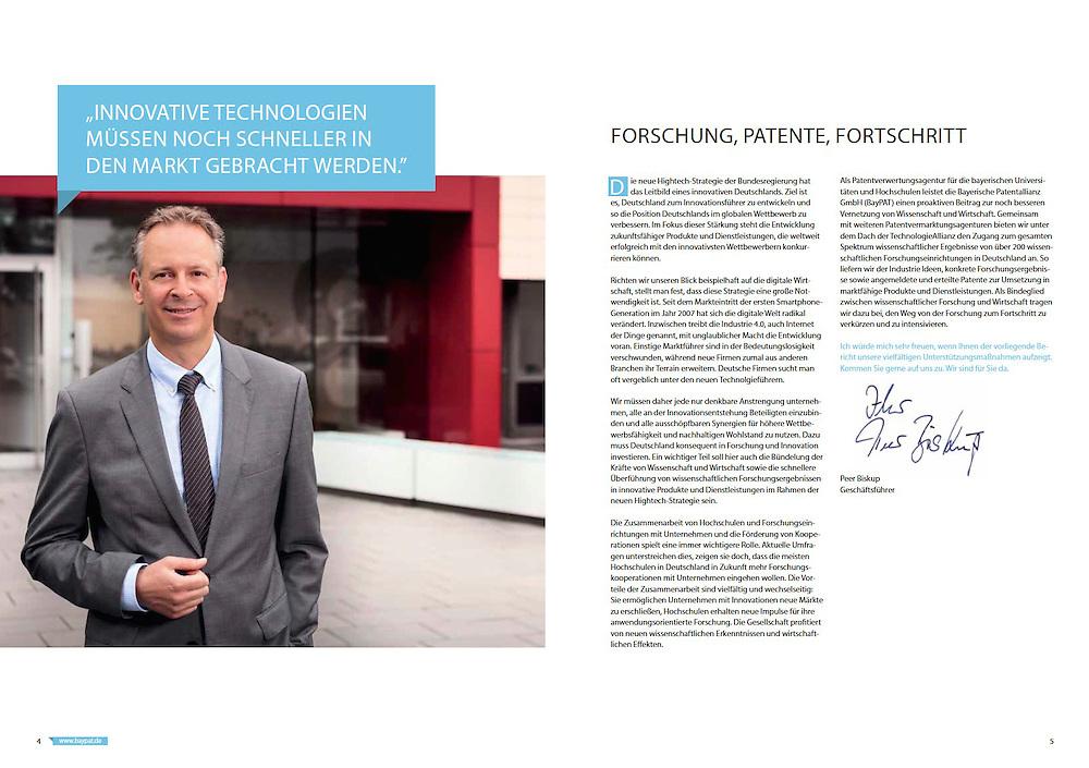 Corporate Portraits für die Bayerische Patentallianz in München