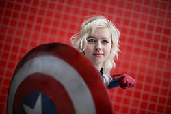 © licensed to London News Pictures. London, UK 24/02/2013. Cosplayers posing at ExCeL, London as they visit London Super Comic Convention on Sunday 24 February 2013. Photo credit: Tolga Akmen/LNP