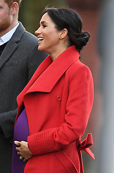 Prince Harry and Meghan Markle visit Hamilton Square in Birkenhead to view a sculpture of poet Wilfred Owen and to meet the people of Birkenhead, Merseyside, UK, on the 14th January 2019. 14 Jan 2019 Pictured: Prince Harry and Meghan Markle visit Hamilton Square in Birkenhead to view a sculpture of poet Wilfred Owen and to meet the people of Birkenhead, Merseyside, UK, on the 14th January 2019. Photo credit: James Whatling / MEGA TheMegaAgency.com +1 888 505 6342