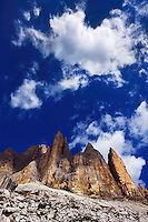 Mountain impression Tre Cime southside - Europe, Italy, South Tyrol, Sexten Dolomites, Tre Cime - Forenoon - July 2009 - Mission Dolomites Tre Cime