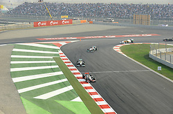 30.10.2011, Jaypee-Circuit, Noida, IND, F1, Grosser Preis von Indien, Noida, im Bild Lewis Hamilton (GBR), McLaren F1 Team - Nico Rosberg (GER), Mercedes GP - Michael Schumacher (GER), Mercedes GP // during the Formula One Championships 2011 Large price of India held at the Jaypee-Circui 2011-10-30  Foto © nph / Dieter Mathis