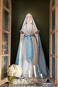 Saint statue in Church of Vilupulli on Chiloe Island, Chile