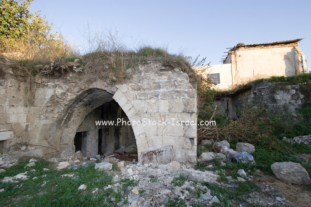 Israel, Ramla, Deserted and neglected building from before 1948
