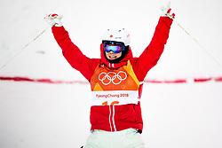 February 12, 2018 - Pyeongchang, SOUTH KOREA - 180212 Daichi Hara of Japan celebrates after  the menÃ•s moguls final during day three of the 2018 Winter Olympics on February 12, 2018 in Pyeongchang..Photo: Carl Sandin / BILDBYRN / kod CS / 57999_286 (Credit Image: © Carl Sandin/Bildbyran via ZUMA Press)