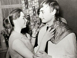 Before rising to power as one of the most infamous leaders in the world, Putin was a playful, hipster-dressing man in love. 1970 - St. Petersburg, Russia -  A young VLADIMIR PUTIN, right, dances with his classmate Elena during a party in St. Petersburg in 1970. (Credit Image: © Russian Archives via ZUMA Wire)
