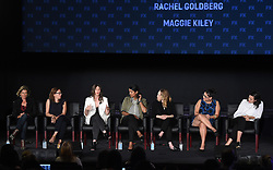 LOS ANGELES - AUGUST 9: (L-R) Gwyneth Horder-Payton, Liza Johnson, Meera Menon, Steph Green, Alexis Ostrander, Rachel Goldberg, and Maggie Kiley onstage during 'Half Initiative and FX Directors' panel during the FX portion of the 2017 Summer TCA press tour at the Zanuck Theatre on the Fox Studio Lot on August 9, 2017 in Los Angeles, California. (Photo by Frank Micelotta/FX/PictureGroup) *** Please Use Credit from Credit Field ***