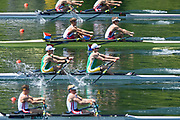 Lucerne, SWITZERLAND, Men's Lightweight  Double Scull Semi Final A/B, RSA LM2X Bow James Thompson, John Smith<br /> USA LM2X Bow Joshua Konieczny, Andrew Campbell, Saturday  28/05/2016<br /> [Mandatory Credit; Peter SPURRIER/Intersport-images]