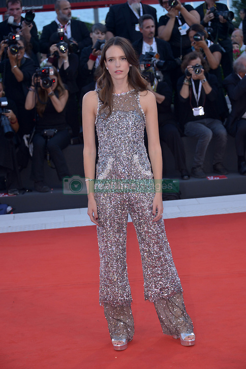 Stacy Martin attending the Vox Lux premiere during the 75th Venice Film Festival