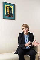 03 SEP 2018, BERLIN/GERMANY:<br /> Elke Buedenbender, Juristin und Gattin des Bundespraesidenten, wahrend einem Interview, in Ihrem Buero, Schloss Bellevue<br /> IMAGE: 20180903-01-003<br /> KEYWORDS: Elke Büdenbender, First Lady