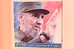 November 27, 2016 - Havana, Cuba - A picture of Fidel Castro, seen in Havana on November 26, 2016, the next day after Fidel Castro, Cuba's historic revolutionary leader, and the former Prime Minister and President of Cuba, dies on the late night of November 25, 2016, at age of 90. . Fidel Castro died aged 90. One of the world's longest-serving rulers and modern history's most singular characters, Castro defied 11 US administrations and hundreds of assassination attempts..On Saturday, 25 November 2016, in Havana, Cuba. (Credit Image: © Artur Widak/NurPhoto via ZUMA Press)