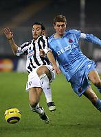 TURIN - TURIJN (ITALIE - ITALIA) - STADIO DELLE ALPI 22/11/2005  <br /> SPORT / FOOTBALL / VOETBAL / CHAMPIONS LEAGUE  / LIGUE DES CHAMPIONS / JUVENTUS FC - CLUB BRUGGE / <br /> GIANLUCA ZAMBROTTA - GERT VERHEYEN<br />  / PICTURE BY   ERIC LALMAND  <br /> ©Digitalsport<br /> Norway only