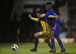 Colombia's Wilmar Barrios and Australia's Massimo Luongo battle for the ball