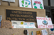 After the Climate March, signs left behind at the EPA's Washington D.C. headquarters.