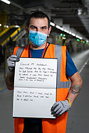 Mark has worked at Amazon for  5 weeks. he is from Bolton.