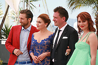 Actor Goran Markovic, actress Nives Ivankovic, director Dalibor Matanic and actress Tihana Lazovic at the Zvizdan (The High Sun) film photo call at the 68th Cannes Film Festival Sunday 17th May 2015, Cannes, France.