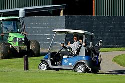 Ellis Harrison and Matty Taylor of Bristol Rovers take part in the Bristol Rovers charity golf day - Mandatory byline: Rogan Thomson/JMP - 07966 386802 - 12/10/2015 - GOLF - Farrington Park Golf Club - Bristol, England - Bristol Rovers Golf Day.