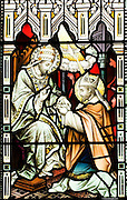 St. Patrick depicted in a stained glass window in St. Mary's Cathedral, Killarney..Photo: Don MacMonagle
