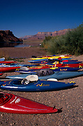 Kayaks on shore near Colorado River, Lees Ferry, Glen Canyon Natl. Rec. Area, Grand Canyon National Park, Arizona..Media Usage:.Subject photograph(s) are copyrighted Edward McCain. All rights are reserved except those specifically granted by McCain Photography in writing...McCain Photography.211 S 4th Avenue.Tucson, AZ 85701-2103.(520) 623-1998.mobile: (520) 990-0999.fax: (520) 623-1190.http://www.mccainphoto.com.edward@mccainphoto.com.