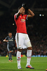 31st October 2017 - UEFA Champions League - Group A - Manchester United v SL Benfica - Anthony Martial of Man Utd looks dejected after seeing his penalty saved - Photo: Simon Stacpoole / Offside.