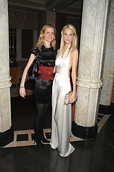 Left to right, sisters CHLOE BUCKWORTH and POPPY DELEVINGNE at a party to celebrate the launch of the Astley Clarke Fine Jewellery Collection held at The Connaught hotel, London W1 on 28th February 2008.<br />