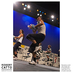 Students perform at the Subway Stage Challenge 2005, at Wellington's Events Centre.  Groups of up to 120, from schools throughout the region create their own costumes, scenery, and choreography.