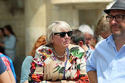 June 24, 2017 - Munich, Bavaria, Germany - Vice president of the German parliament Claudia Roth..Around 3000 gathered in Munich to protest for a right to stay for Afghan refugees. Many politicians held a speech. (Credit Image: © Alexander Pohl/Pacific Press via ZUMA Wire)