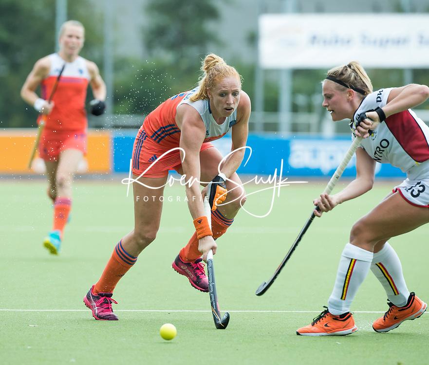 SCHIEDAM - Margot van Geffen (Ned)  tijdens een oefenwedstrijd tussen  de dames van Nederland en Belgie , in aanloop naar het  EK Hockey, eind augustus in Amstelveen. COPYRIGHT KOEN SUYK
