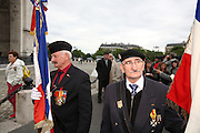France, Paris Veteran memorial service at the Arch de Triumph,