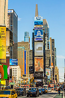NEW YORK CITY- MARCH 23, 2018 : Broadway Theater District one of the main Manhattan Landmarks