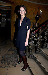 Fashion designer MARIA GRACHVOGEL at a party hosted by Westfield and the British Fashion Council to celebrate Fashion Forward held at Home House, 20 Portman Square, London W1 on 30th January 2007.<br />