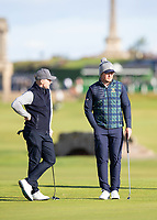 Golf - 2021 Alfred Dunhill Links Championship - Day Four - The Old Course at St Andrew's - Day Four -  Sunday 3rd October 2021<br /> <br /> Eddie Pepperell and Ronan Keating on the 17th green<br /> <br /> Credit: COLORSPORT/Bruce White
